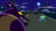 S4e8 Finn and Alpha Hug Wolf squaring off