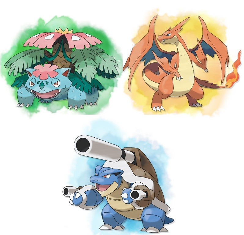 Image - 99353-pokemon-x-and-y-kanto-starters-mega ...