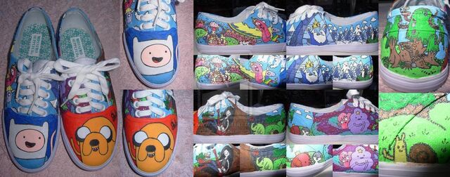 File:My adventure time shoes by invader valo-d2uotds.jpg
