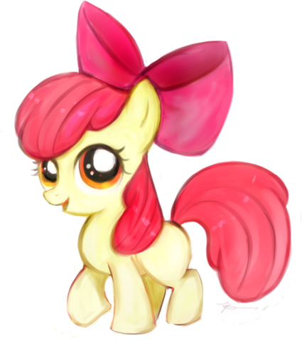 File:My little pony apple bloom by laalaachii-d3lossp.png