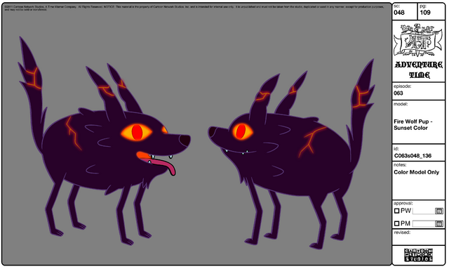 File:Modelsheet Fire Wolf Pup - Sunset Color.png