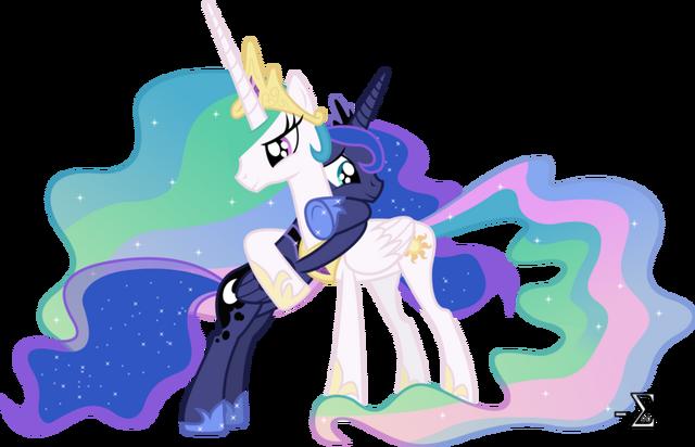File:Princess Luna and Princess Celestia hugging fan art by artist-90sigma.png