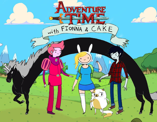 File:Adventure time with fionna,cake,LM,PG,and Marshall Lee.jpg