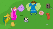 S5 e18 Gunter dancing with the princesses