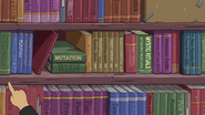S5e48 Simon's bookshelf