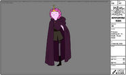 Modelsheet princessbubblegum incloak hooddown