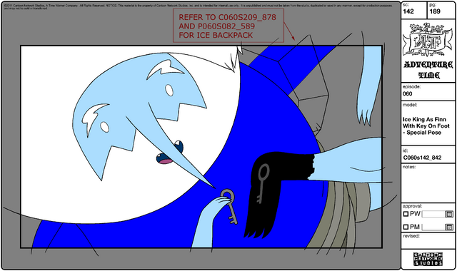 File:Modelsheet Ice King as Finn with Key on Foot - Special Pose.png