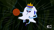 S5e14 Ice King flying with basketball