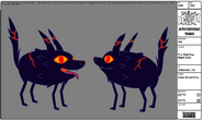 Modelsheet Fire Wolf Pup - Night Color