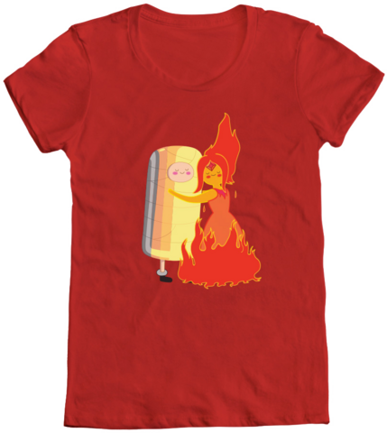 File:Finn and Flame Princess Hug T-Shirt.png
