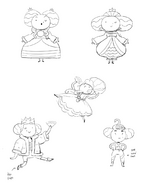 Sketches of Queen of Ooo