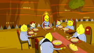 S6e28 Lemon People eating dinner