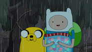 S4e23 Finn and Jake with bag of lollies