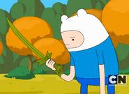 Finn not happy with Grass Sword