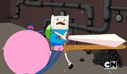 S2e19 Finn sword fight with conductor