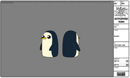 Gunter the penguin fowards and backwards