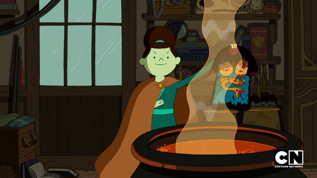 File:S5e29 Maja holding shirt over caldron.png