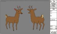 Modelsheet deer