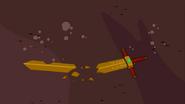 Fight King's sword, broken