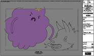 Modelsheet Lumpy Space Princess Slapping Wolf - Special Pose
