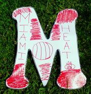 Letter M Miami-Heat
