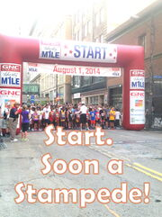 Start of Liberty Mile Stampede Soon