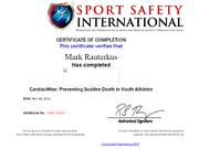 Sudden Cardiac Course certificate-Mark Rauterkus