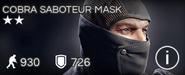 Cobra Saboteur Mask