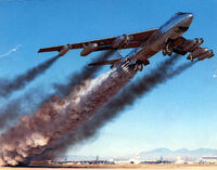 B-47b rocket assisted takeoff April 15, 1954