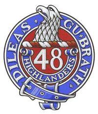 48 Highrs Cap Badge