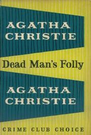 Dead Man's Folly First Edition Cover 1956