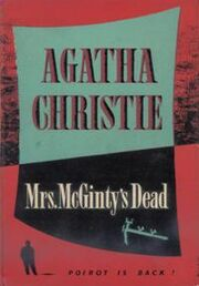 Mrs McGinty's Dead First Edition Cover 1952
