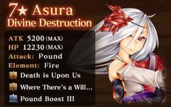 NR Asura Reward