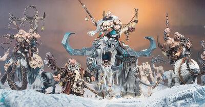 Beastclaw Raiders Ogors Diorama