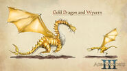 Art Golden Dragon