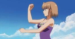 Aika fighting stance 2