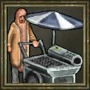 Flaming Hot Dog Cart Portrait