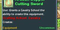 Artisan Copper Cutting Sword
