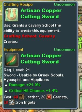 CR Cav 21 Artisan Copper Cutting Sword