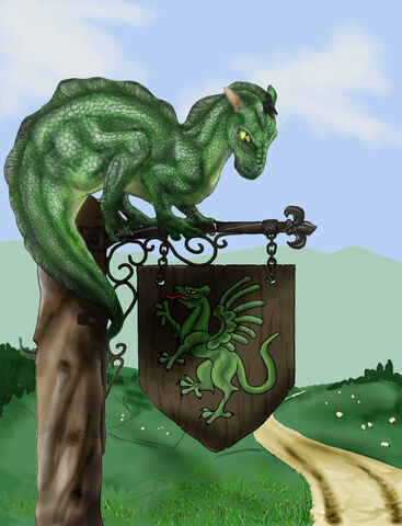 File:The green dragon by darkwolfhowling-d3bouoa.jpg