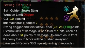 (Golden Snake Sting) Swing The Tail (Description)