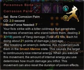 (Bone Corrosion Palm) Poisonous Bone Corrosion Palm (Description)
