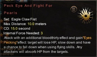 (Eagle Claw Fist) Peck Eye And Fight For Pearls (Description)