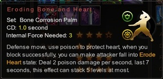 (Bone Corrosion Palm) Eroding Bone and Heart (Description)