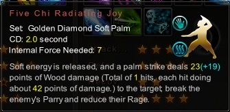 (Golden Diamond Soft Palm) Five Chi Radiating Joy (Description)