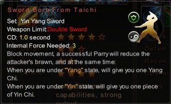 (Yin Yang Sword) Sword Born From Taichi (Description)
