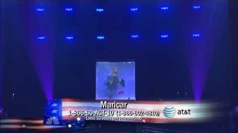 Maricar underwater at America's got talent 2010 in Hollywood