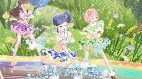 【HD】Aikatsu! - episode 27 - All 6 Girls vs Mizuki - Shining Sky of The G String【中文字