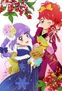 Yande.re 340129 sample aikatsu! autographed hikami sumire kimono kurebayashi juri watanabe satomi