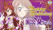 Happy Brithday Ran Aikatsu Cafe Namco